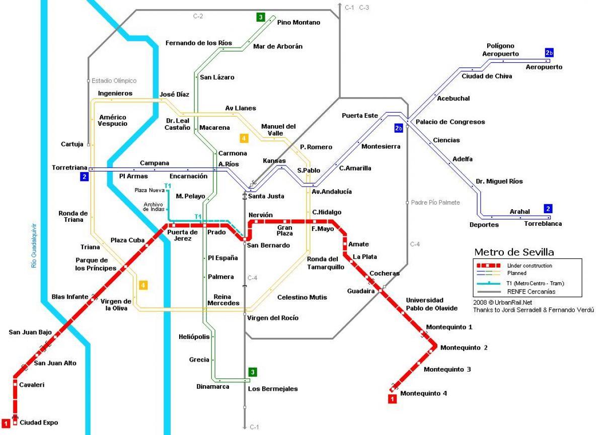メリアセビリア地図-地図のセビ...